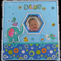 Детский фотоальбом на 120 фотографий, слоник, жираф