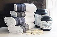 Махровое полотенце Arya Salvador 70х140 см белый + серый