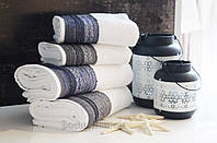Махровое полотенце Arya Salvador 50х90 см белый + серый