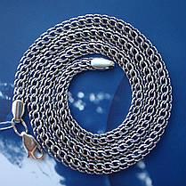 Серебряная цепочка, 500мм, 22 грамма, плетение Питон, чернение, фото 3