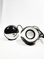 Колонки для компьютера G109 круглая ZH черно-белые!Опт