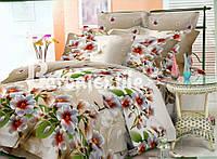 Качественное постельное белье полуторное с цветами
