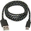 Кабель USB micro метал ткань 2A CK!Опт