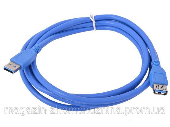 Кабель USB2.0 AM/AF 1,5м (в пакете синий)!Опт, фото 2