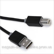 Кабель USB2.0 AM/BM 1,5м JYC (в пакете черный)!Опт, фото 2