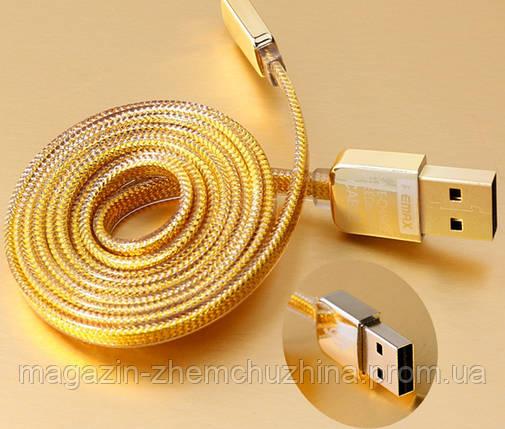 Кабель MICRO ткань 1,5м (GOLD) зарядка+DATA-кабель!Опт, фото 2