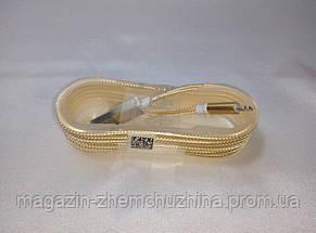 Кабель MICRO ткань 1,5м (GOLD) зарядка+DATA-кабель!Опт, фото 3