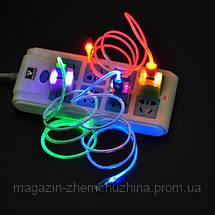 Кабель зарядка USB для Samsung с LED индикатором!Опт, фото 3