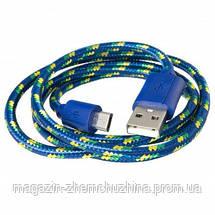Кабель USB micro метал ткань 2A CK!Опт, фото 2