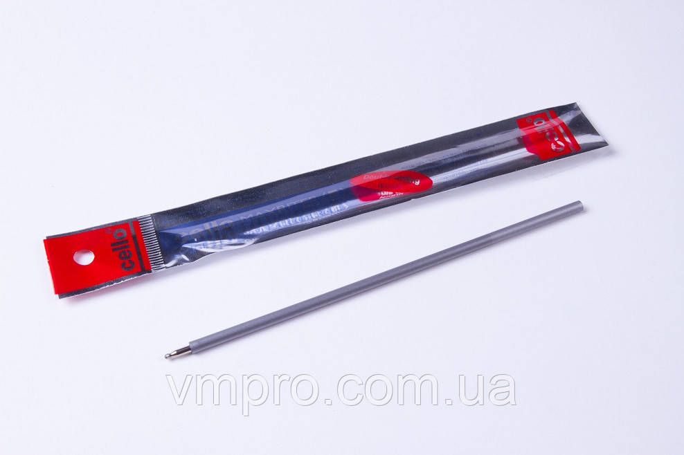 Змінний стрижень Cello Maxriter 4 km, чорний, ампулки для кулькових ручок