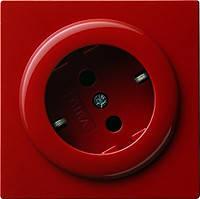 Розетка с з/к поворотная на 30 градусов Gira S Color Красный (044843)