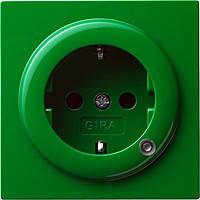 Розетка с заземляющими контактами 16 А / 250 В и контрольной лампой Gira S Color Зеленый (018245)