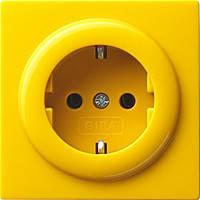 Розетка с заземляющими контактами Gira S Color Желтый (018844)