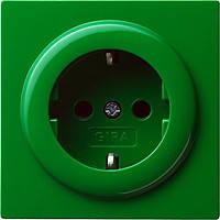 Розетка с заземляющими контактами Gira S Color Зеленый (018845)