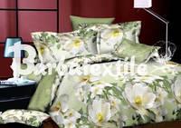 Элитное постельное белье двуспального размера оливковый лотос