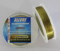 Люрекс Аллюр №15. Золото оливковое 100 м, фото 1