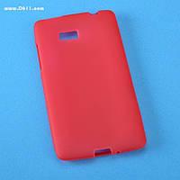 Чехол силиконовый для HTC Desire 600 red