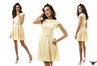 Коротенькое летнее платье с принтом