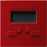 Термостат с таймером и функцией охлаждения Gira S Color Красный (237043)