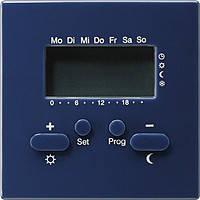 Термостат с таймером и функцией охлаждения Gira S Color Синий (237046)