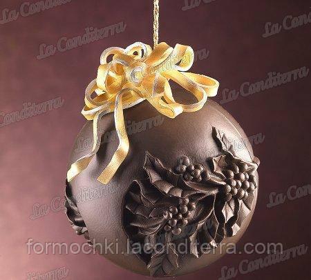 Силиконовая форма для шоколада Decosil (Рождественский венок)