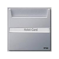 Карточный выключатель с полем для надписей Gira TX_44 Алюминий (014065)