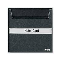 Карточный выключатель с полем для надписей Gira TX_44 Антрацит (014067)