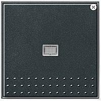Кнопочный переключатель вертикальный с контрольным окном Gira TX_44 (WG UP) Антрацит (012067)