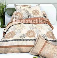 Комплект шикарного постельного белья из сатина евро размера