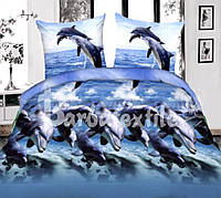 Постельный комплект c дельфинами 3д
