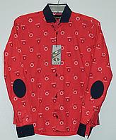 Рубашка для мальчиков-подростков с модными вставками,рост 140 -170 см,цвета разные,S975