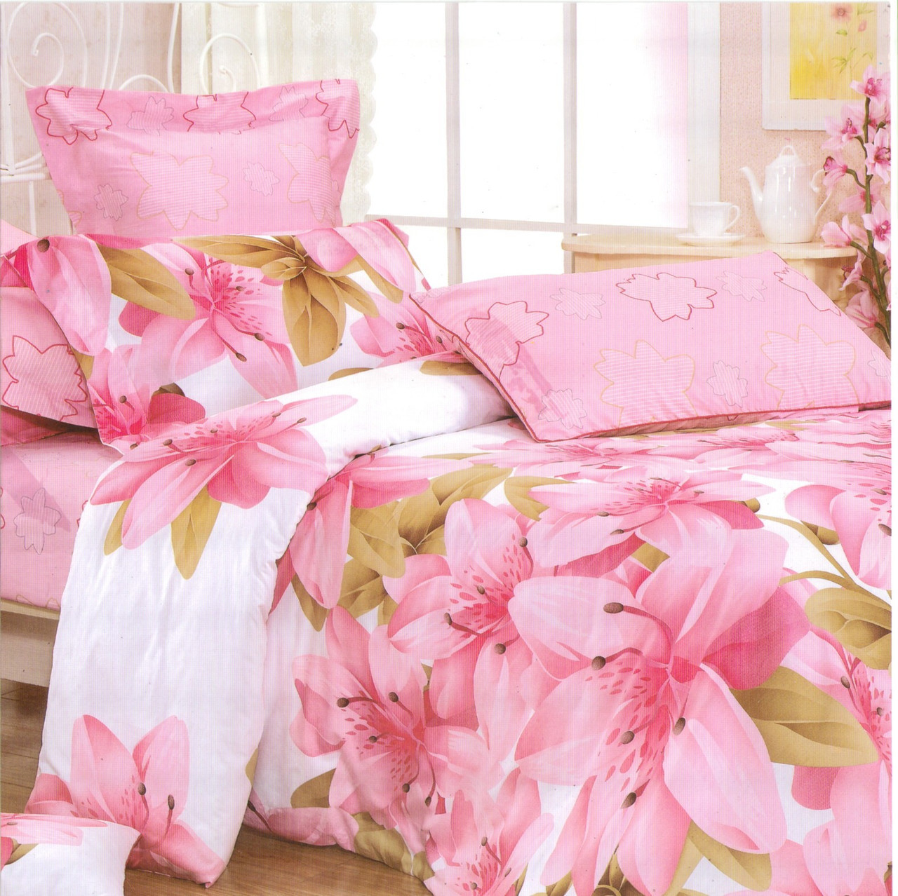 1f8a6c966b43 Розовое постельное белье евро размера из бязи: продажа, цена в ...