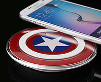Беспроводное зарядное устройство Qi S2, в виде щита капитана Америка, железного человека!Опт
