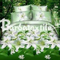 Семейный комплект постельного белья с лилиями
