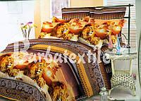 Натуральное постельное белье семейное со львами