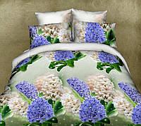 3д постельного белье семейное с гортензиями