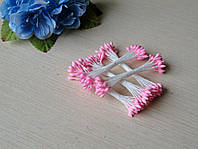 Тычинки Тайские ручной работы.Цвет розовый капельки. 24-25 ниток 48-50 головок