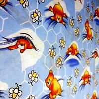 Голубое постельное белье для новорожденных из бязи