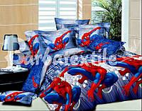 Детское полуторное постельное белье человек паук ранфорс