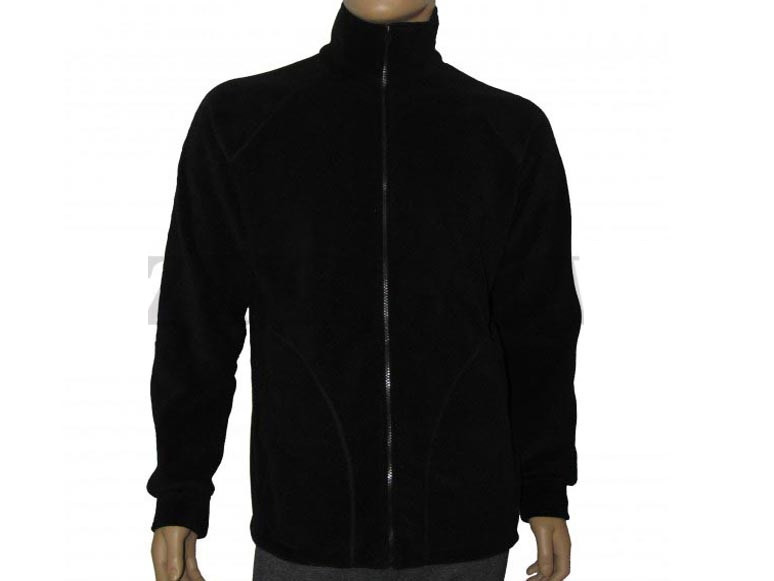 Куртка-реглан из полар-флиса черная