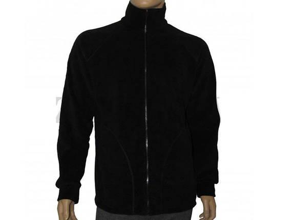 Куртка-реглан из полар-флиса черная, фото 2