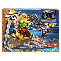 Hot Wheels Monster Jam Front Flip Takedown Playset