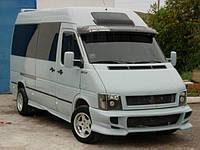 """Козырек лобового стекла """"Черный"""" для Volkswagen LT35, Фольксваген ЛТ35"""