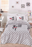 Комплект постельного белья евро c вафельным покрывалом, Boston Gri