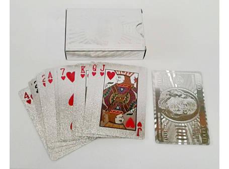 I5-55 Карты пластик серебро, фото 2