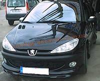 Юбка на передний бампер под покраску на Peugeot 206 1998-2012
