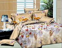 Комплект постельного белья семейный орхидеи с бабочками