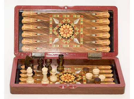 I5-59 Шахматы 3 в 1 (бол.) (40 х 40 см), фото 2