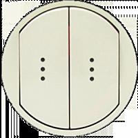 Лицевая панель 2-клавишная для выключателя с подсветкой и индикацией Legrand Celiane Слоновая Кость (66211)