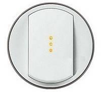 Лицевая панель выключатель одноклавишный с подсветкой и индикацией Legrand Celiane Белый (68003)